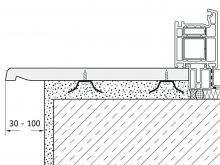 Монтаж werzalit на удерживающие скобы