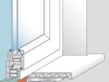 Монтаж на строительный раствор После окончательной отрезки, подгонки и подготовки подоконника (крепление металлических кронштейнов на расстоянии максимум 500 мм., минимум 3 кронштейна на подоконник) он укладывается в подготовленный раствор и фиксируется