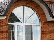 Арочное окно из пвх профиля Proplex