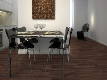Фото ламинатной доски для столовой в темной цветовой гамме