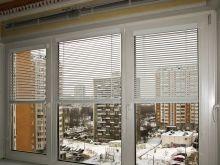 ПВХ окна Rehau с встроенными жалюзи