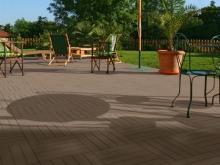 Террасная плитка paseo, поверхность largo Террасная плитка paseo, поверхность largo, цвет marrone (каштановый) с укладкой в шахматном порядке