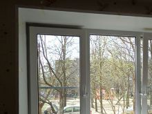 Трехстворчатое окно KBE с двумя активными створками