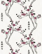 Стеновые панели Нико Пласт коллекция Цветы Азии, цвет 9008/1 Нота Азии