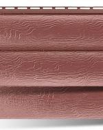 Сайдинг Альта-Профиль Blockhouse, виниловый Красно-коричневый