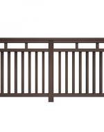 Декоративные заборы и ограждения Savewood (Сейвуд) из ДПК Темно-коричневый