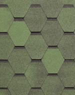 Гибкая черепица Тегола серия Нордик Зёленый с отливом