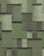 Мягкая черепица Тегола серия Альпин Зёленый с отливом